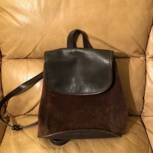 Coach vintage brown leather suede backpack